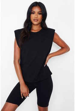 Black Shoulder Pad Co-ord