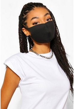 Black Single Face Mask