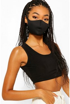 Black Triple Pack Face Masks