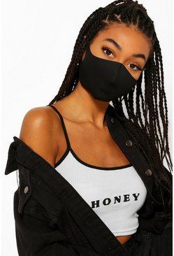 Black 5 Pack Face Masks
