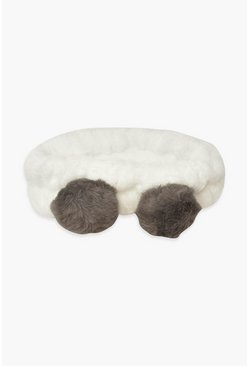 White Fluffy Panda Spa Headband