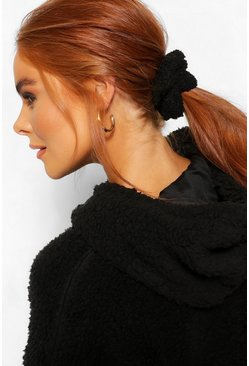 Black 2 Pack Borg Scrunchie