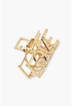 Love Metal Hair Grip , Gold métallique