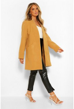 Camel beige Lightweight Wool Look Coat