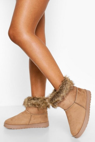 Tan brown Cosy Ankle Boots