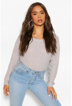 Crystal grey Boxy Jumper