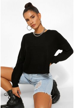 Black Boxy Jumper