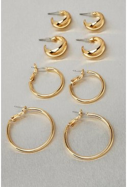 Gold metallic Recycled Metal 4 Pack Hoop