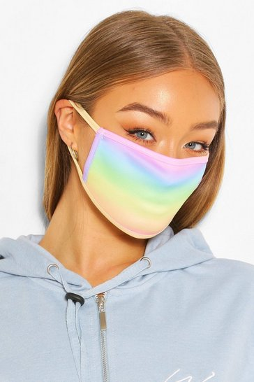 Multi Rainbow Fashion Face Mask