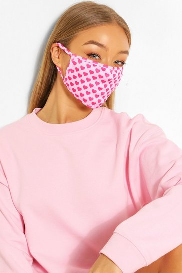 Pink Mini Heart Fashion Face Mask