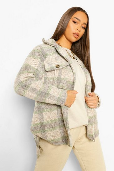 Green Check Oversized Shacket