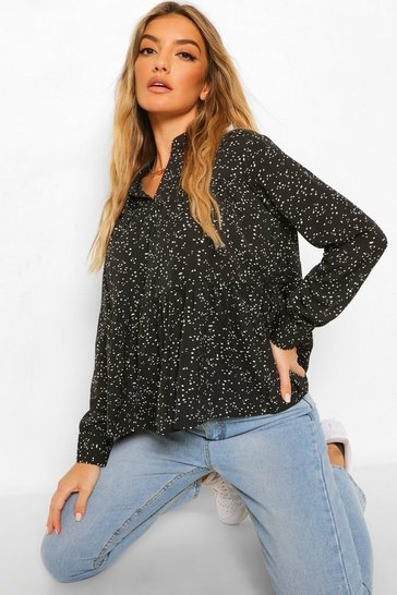 Multi Smock Blouse Top