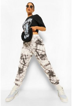 Black High Waist Tie Dye Joggers