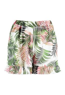 Multi Printed Flippy Hem Short