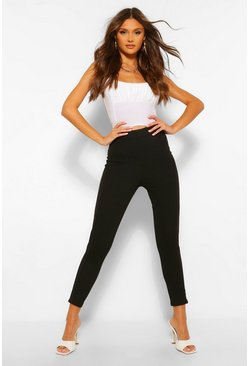 Black Sculpt Seam Stretch Skinny Trousers