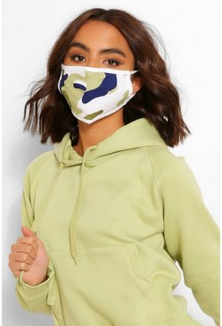Green Camo Fashion Face Mask