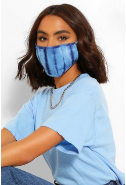 Blue Tie Dye Fashion Face Mask