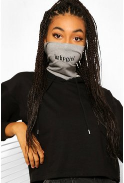 Grey Babygirl Snood Fashion Face Covering