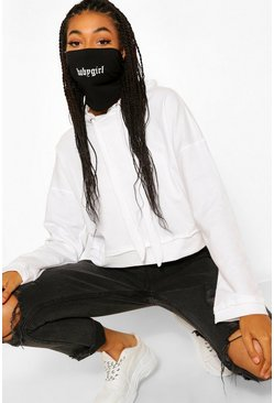 Black Babygirl Snood Fashion Face Covering