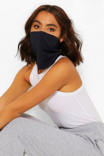 Navy Snood Fashion Face Covering