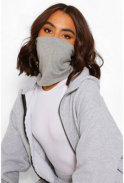 Snood Fashion Face Covering , Grey
