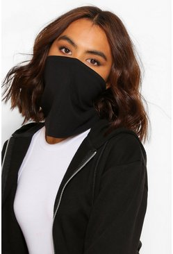 Zwart black Snood Fashion gezichtsmasker