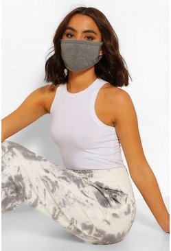 Grey marl grey Grey Fashion Face Mask