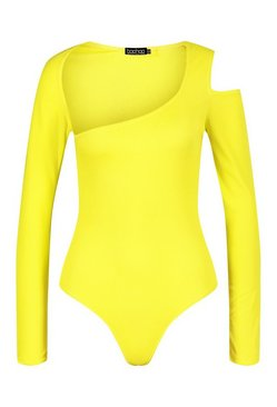Chartreuse The Cut Out Bodysuit