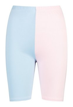 Pink Colour Block Cycling Short