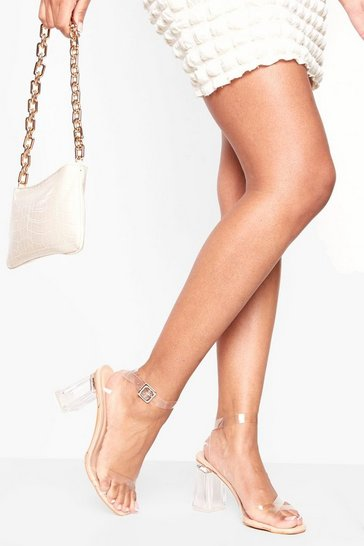 Nude Clear Two Part Heels