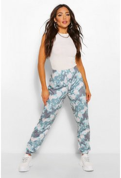 Grijs grey Tie-dye joggingbroek
