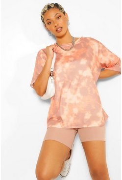 Stone Tie Dye Oversized Elbow T Shirt