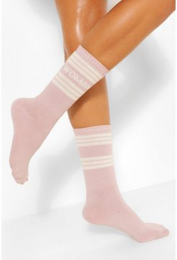 Purple Fit Woman Stripe Sports Socks
