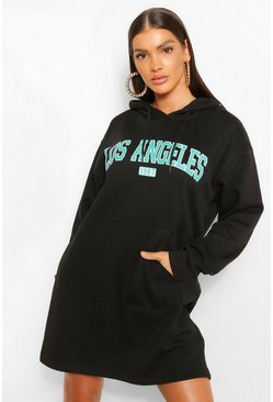 Black Los Angeles Hoodie Dress