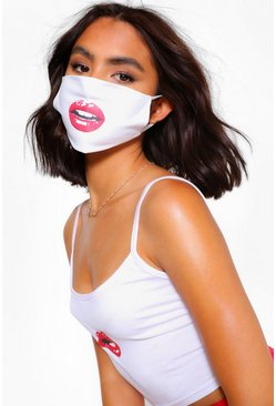 White Mouth Fashion Face Mask
