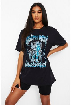 Black Death Row Lightening License T-Shirt