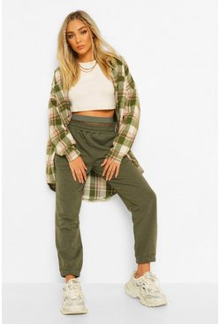 Light khaki FISHNET INSERT PANEL JOGGER