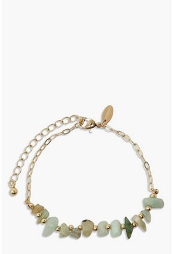 Gold metallic Stone Effect Bracelet