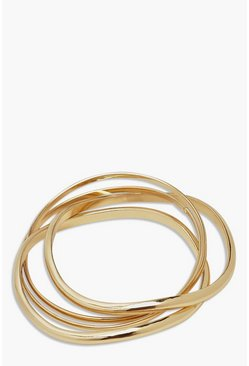 Gold metallic 5 Pack Bangle