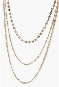 Gold Three Layer Necklace
