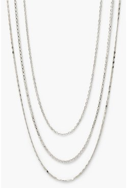 Silver 3Pack Stacking Necklaces