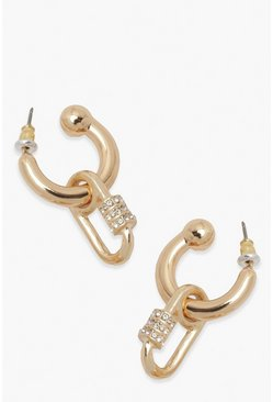 Gold metallic Carabena Hoop Earring