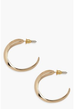 Gold metallic Gradient Hoop Earrings