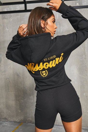 Black Corset 'Missouri' Graphic Hoody