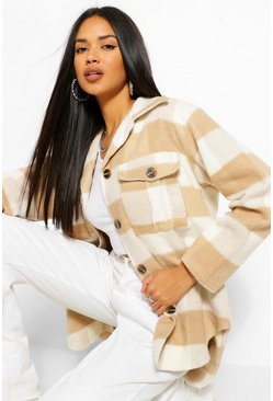 Stone beige The Checked Shacket