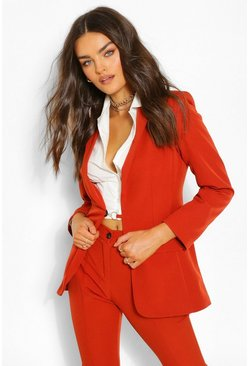 O Ring Blazer & Skinny Pants Suit Set
