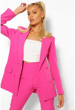 Blazer & Split Hem Skinny Trouser Suit Set