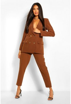 Tailored Trousers, Chocolate