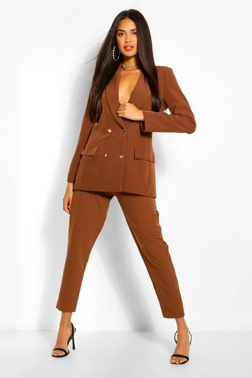 Chocolate Tailored Trousers