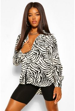White Zebra Pocket Detail Shirt